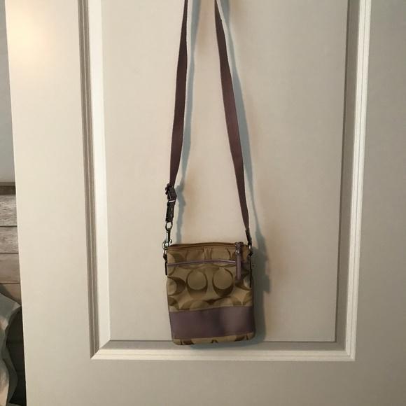 Coach Handbags - Coach bag with lavender detail